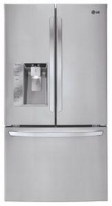 LFX33975ST LG Mega-Capacity 3 Door French Door Refrigerator with Smart Cooling Plus - Stainless Steel