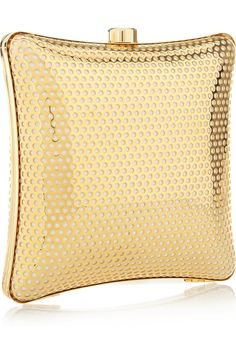 Stella McCartney. Satin-lined perforated box clutch.