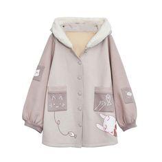 原创设计森女部落冬装可爱毛呢外套中长款连帽大衣秋冬学院风学生