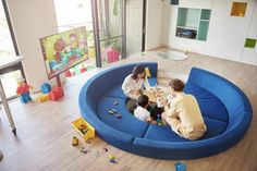 LEGO interior design and decor ideas may please those who started their own family, but still collect LEGO toys. Inspired by LEGO products and bright colors, designers create unique home interiors blending bright yellow and red colors with white, blue and green colors into modern interior design and