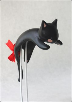 Large clinging cat (black) [CDA61B] - $20.00 : CamelliaDynasty Bjd, Witch, Pure Products, Dolls, Cute, Pictures, Painting, Black, Gatos