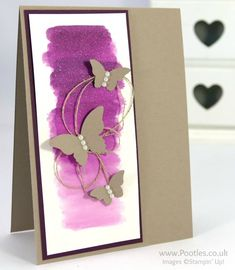 Stampin' Up! Demonstrator Pootles - Watercolour Blackberry Bliss and Butterflies