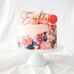 19th Birthday Cakes, Elegant Birthday Cakes, Beautiful Birthday Cakes, Birthday Cakes For Women, Beautiful Cakes, Small Birthday Cakes, Birthday Cake For Mom, Buttercream Bakery, Buttercream Birthday Cake