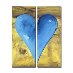 "Ready2hangart Zane Heartwork ""James"" 2 Piece Painting Print on Canvas Set Size:"