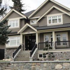 Cabin Exterior Paint Schemes | Vancouver Traditional Exterior Paint Colors Exterior Design, Pictures ...