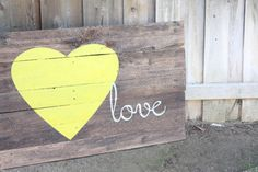 Reclaimed Wood Love Sign by WTGDesigns on Etsy, $130.00