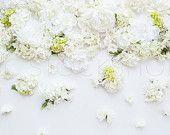 Styled Stock Photography | White Styled Flower Banner Image | Product Photography | Digital Image