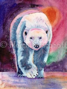 when I went to Alaska, I fell in love with Helen Simeonoff's watercolors.