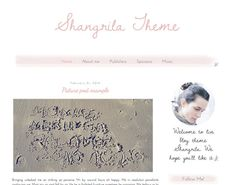 Premade Blogger Template Shangrila  by DontTellAnyoneDesign, $20.00