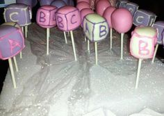 BABY SHOWER Cake Pops Baby Shower Brownie by BROWNIEAFFAIRbyAdel, $36.00