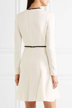 Giambattista Valli - Guipure Lace-paneled Crepe Mini Dress - Ivory - IT40