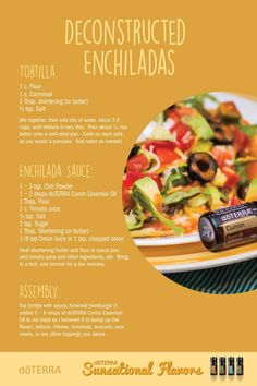 Deconstructed Enchiladas with doTERRA Cumin essential oil