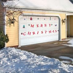 christmas garage door magnets - Garage Christmas Decorations