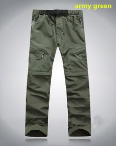Men's quick-drying Leisure Removable Legs Waterproof pants