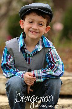 5 year old boy, photo pose