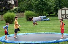 How to Put a Trampoline on a Slope