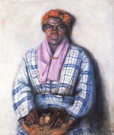 "Archibald John Motley, Jr (American Harlem Renaissance painter, 1891-1981) My Grandmother 1922   Motley explained,  ""She was a pygmy fro..."