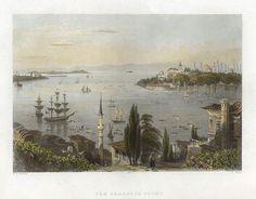 Turkey, Constantinople, the Seraglio Point, 1838