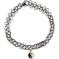 Accessorize Woven Choker Ying Yang Charm Necklace found on Polyvore featuring jewelry, necklaces, accessories, choker, neck, rock necklace, woven jewelry, choker necklace, woven necklace and charm jewelry