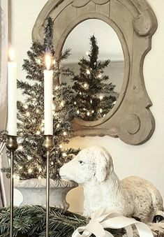 French Farmhouse Christmas Decor Inspiration - Hello Lovely - French Christmas decorating ideas from an amazing house tour of country French design from The Fren -
