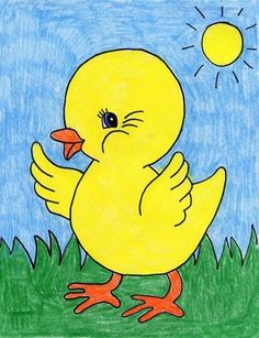 Baby Ducks Coloring Pages Inspirational ▷ 1001 Ideas for Easy Drawings for Kids to Develop their Easy Art For Kids, Easy Drawings For Kids, Drawing For Kids, Yoda Drawing, Baby Drawing, Bird Coloring Pages, Truck Coloring Pages, Cute Animal Drawings, Cool Drawings