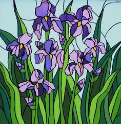 Image result for iris painting