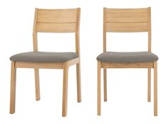 Set of 2 Luka Dining Chairs, Manhattan Grey and Oak Dining Area, Dining Chairs, Manhattan, Studio Design, Grey, Wood, Furniture, Creative, Home Decor