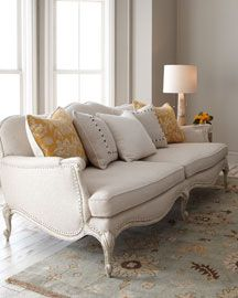 this with the dresden furniture + bright pink and other colored pillows + silver accessories = perfect