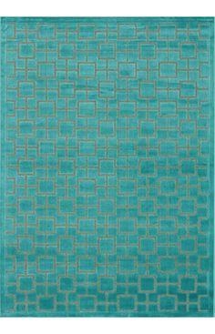 Loloi Halton Too HT06 Aqua Rug   Contemporary Rugs