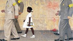 Ruby Bridges, the first African-American child to desegregate an all white elementary school in the south (New Orleans). She was escorted by U.S. Marshals, met by vicious mob, throwing objects at her, and no students in class for her entire first year. This girl is my hero.