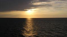Закат в Северном море.