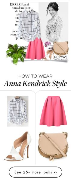 """""""Plaid Black Blouse"""" by dubaiwholesalediamond on Polyvore featuring Arco, Gianvito Rossi, 18 KT and Chloé"""