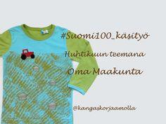 Suomi 100 vuotta -teemakäsitöiden huhtikuun aihe: oma maakunta https://kangaskorjaamolla.blogspot.fi/2017/04/huhtikuun-teemana-oma-maakunta.html