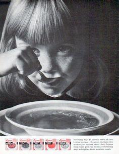 "Description: 1962 LIPTON SOUP vintage magazine advertisement ""Five tasty ways"" -- Five tasty ways to put that extra lift into Lenten lunches . the soups that . Vintage Ephemera, Vintage Ads, Vintage Signs, Vintage Food, Lipton Soup, Oscar Mayer, Cooking Dried Beans, Soup Mixes, Pepsi Cola"