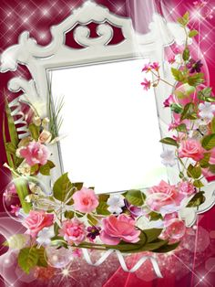 Frames - Rose flowers of joy, amazingly beautiful, amazingly tender 2 Clipart, Family Photo Frames, Photo Layers, Bird Wallpaper, Frame Template, Floral Border, Flower Frame, Pink Roses, Rose Flowers