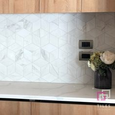 Come and check out our massive range of kitchen tiles. We sell a variety of kitchen splashback tiles. Kitchen Splashback Tiles, Mosaic Backsplash, Carrara, Copper House, Kitchen Decor, Kitchen Design, Mosaic Bathroom, House Tiles, Minimalist Kitchen