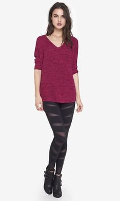 slash stripe mesh inset legging from EXPRESS