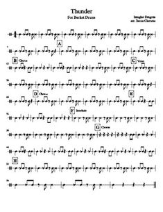 Bucket Drumming sheet music. Thunder