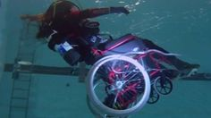 Ms Austin, who has been a wheelchair user since 1996, developed the chair with help from dive experts and academics.