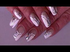 White glam and sparkles - Wedding nailart