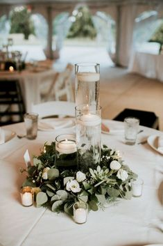 Most stunning round table centerpieces pinterest wedding tables 20 simple greenery wedding centerpieces decor ideas junglespirit Gallery
