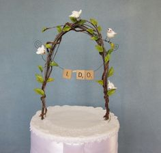 wedding cake topper - perfect for scrabble players or those who can't get enough of Words With Friends game!
