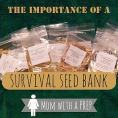 Why is a survival seed bank important to the PREPared family? Read more... | Mom with a PREP