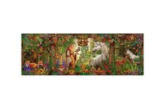 Puzzle panoramic Schmidt - Ciro Marchetti: Magic Forest, 1.000 piese (59614) Magic Forest, Schmidt, Puzzle, Cabinet, Painting, Art, Magical Forest, Jelly Cupboard, Art Background
