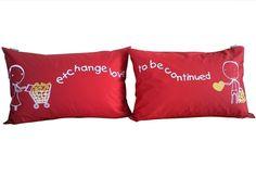 love couple pillows