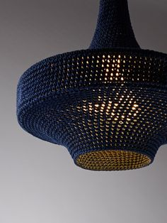 Dramatic Crocheted Lamps Created With Fashion Industry Waste : TreeHugger