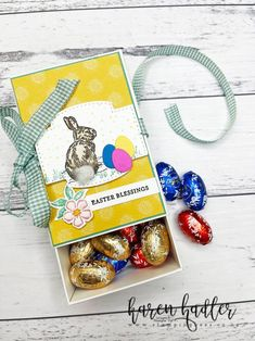 Happy Easter Everyone, Love You, Treat Holder, Treats, Easy Gifts, Box, Easter Eggs, Stampin Up, Scrap