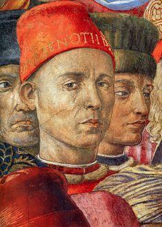 Palazzo Medici Riccardi - Cappella dei Magi  Benozzo Gozzoli tra il 1459 e 1461  Primo autoritratto di Gozzoli