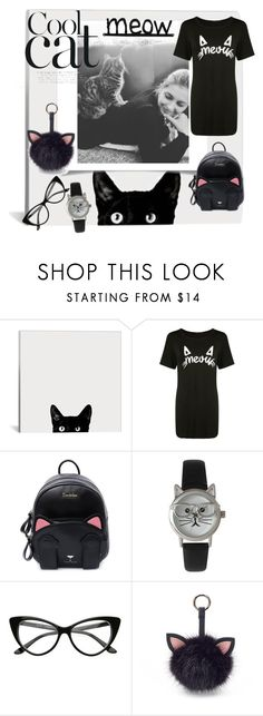 """Crazy cat lady "" by maargita ❤ liked on Polyvore featuring Boohoo, Olivia Pratt and Under One Sky"