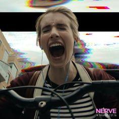 "Emma fun! ""Current mood. #Nerve #WatcherOrPlayer"""